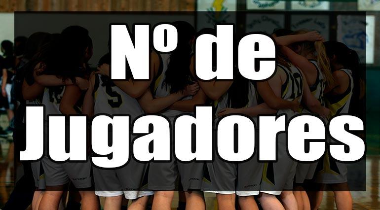 cuantos jugadores en un equipo de basquetbol
